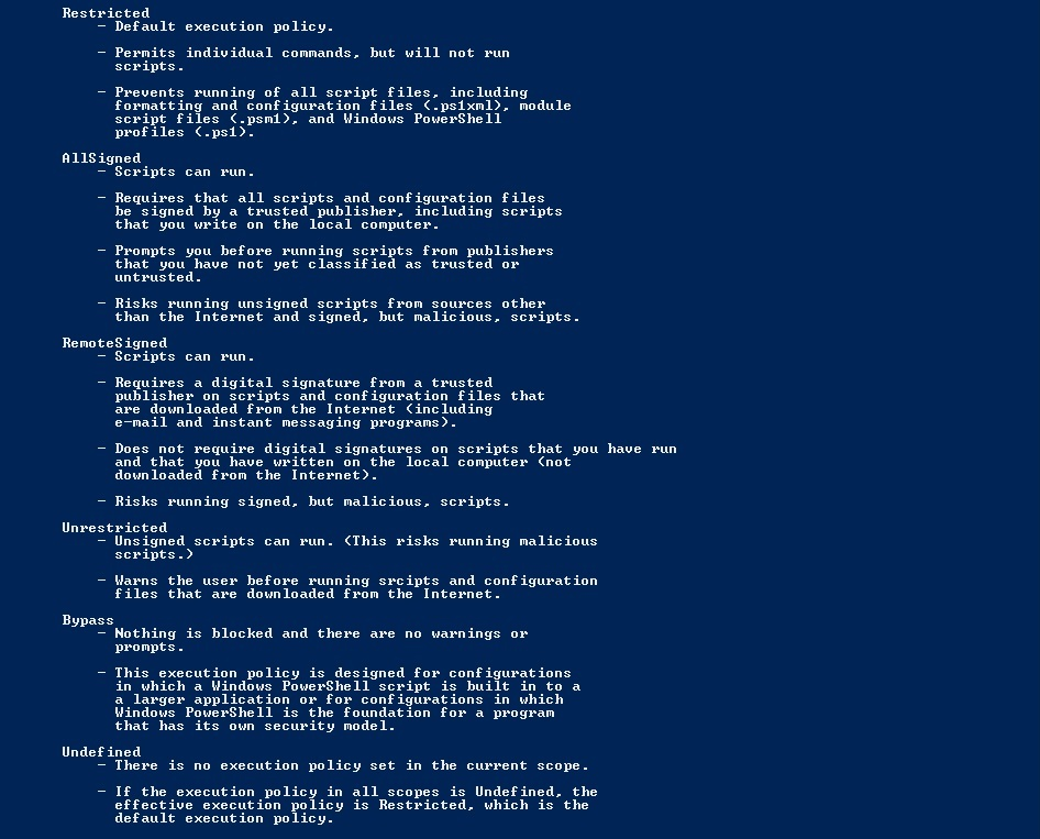 Powershell Execution Policies | The Tech Cafe..